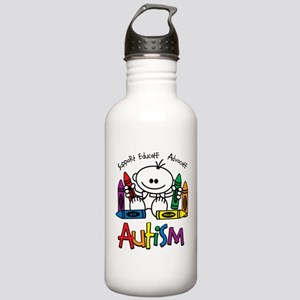 Autism Crayons Stainless Water Bottle 1.0L