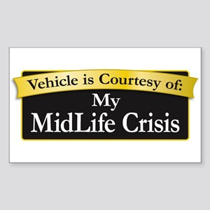 My MidLife Crisis Sticker (Rectangle)