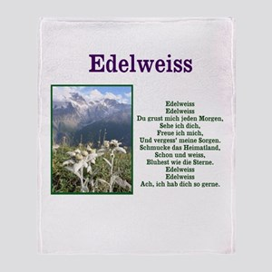 Edelweiss Lyrics Throw Blanket