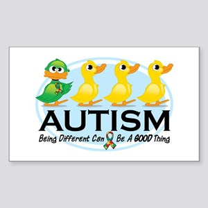 Autism Ugly Duckling Sticker (Rectangle)