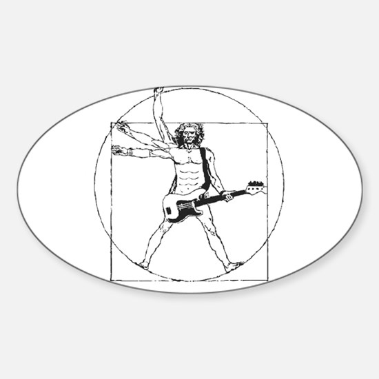 Leonardo Rocks! Sticker (Oval)