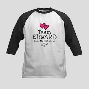 Grandma Lovez Edward Kids Baseball Jersey