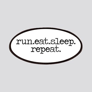 run eat sleep repeat Patches