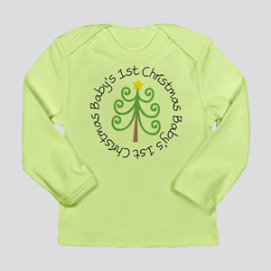 Baby's 1st Christmas Tree Long Sleeve Infant T-Shi