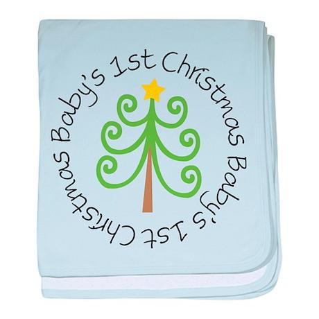 Baby's 1st Christmas Tree baby blanket