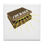 suitcase of courage Tile Coaster