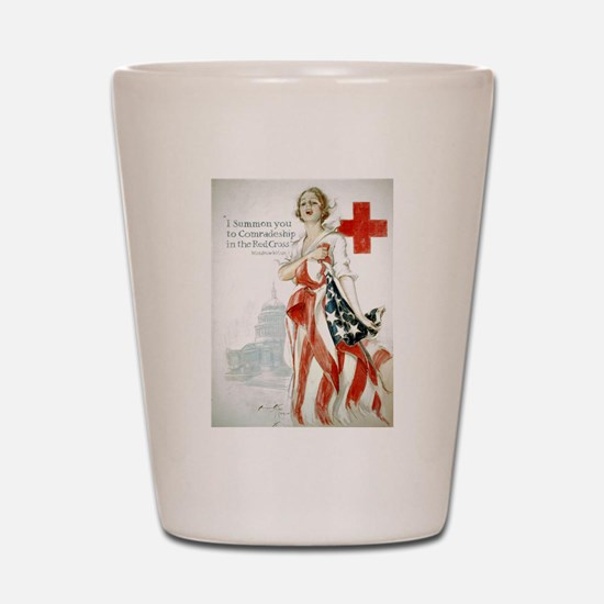 Red Cross Comradeship Shot Glass