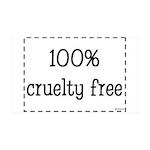 100% Cruelty Free 38.5 x 24.5 Wall Peel