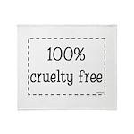100% Cruelty Free Throw Blanket