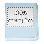100% Cruelty Free baby blanket