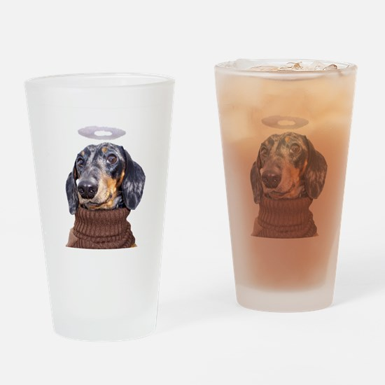 Angel Spotted Doxie Drinking Glass