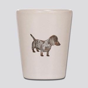 Speckled Dachshund Dog Shot Glass