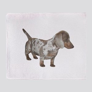 Speckled Dachshund Dog Throw Blanket