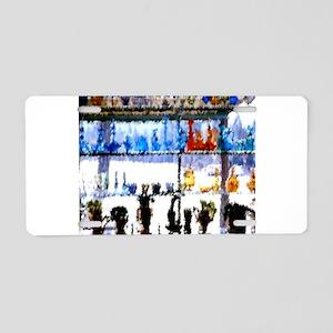 Shop Window Aluminum License Plate