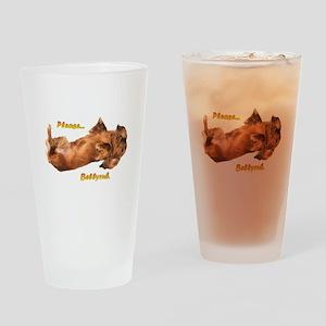 Bellyrub Doxie Drinking Glass