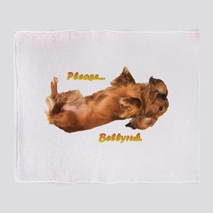 Bellyrub Doxie Throw Blanket