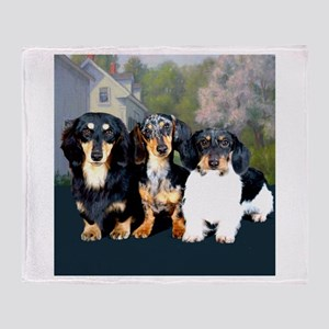 Sweet Doxie Group Throw Blanket