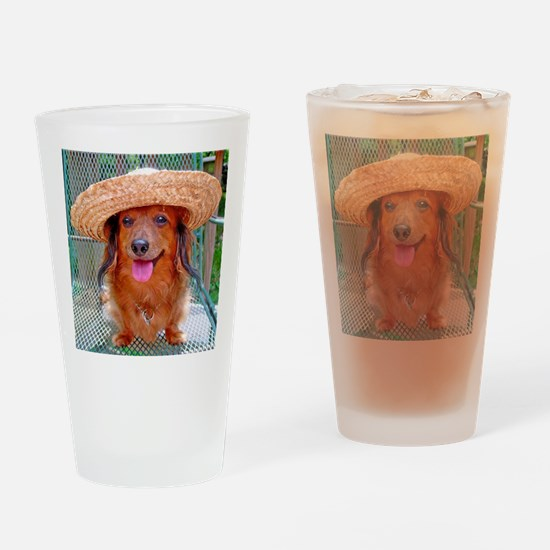 Vacation Doxie Drinking Glass