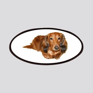 Long Hair Red Dachshund Patches