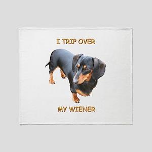 I Trip Wiener Throw Blanket