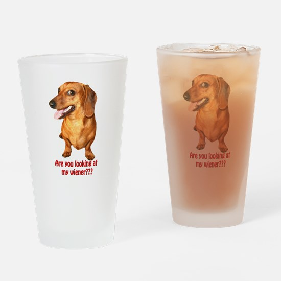 Looking at My Wiener Dachshun Drinking Glass