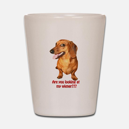 Looking at My Wiener Dachshun Shot Glass