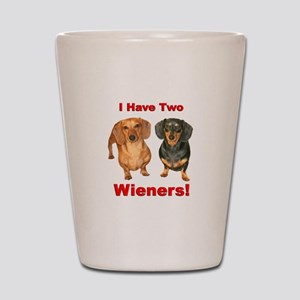 Two Wieners Shot Glass
