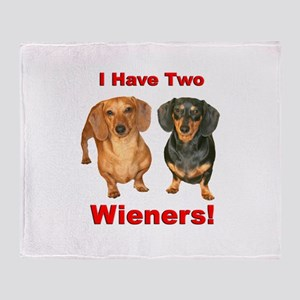 Two Wieners Throw Blanket