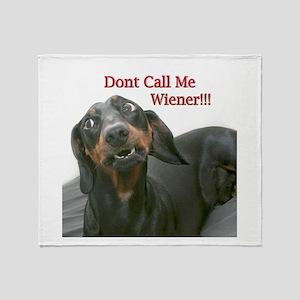 Who U Callin Wiener Throw Blanket