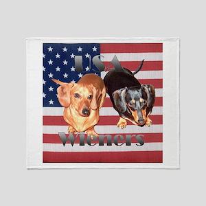 USA Wieners Throw Blanket