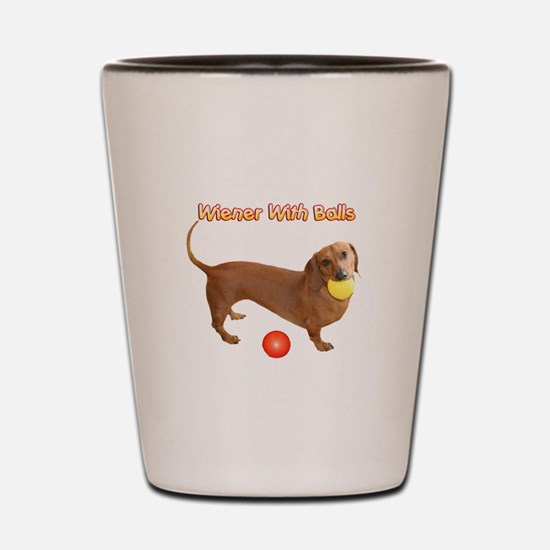 Wiener with Balls Shot Glass