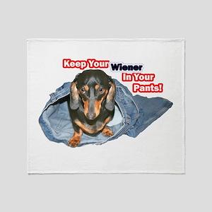 Keep Your Wiener Dog Throw Blanket