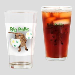 Big Balls Dachshund Dog Drinking Glass