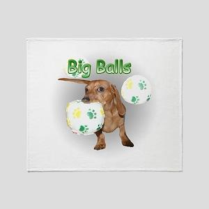 Big Balls Dachshund Dog Throw Blanket