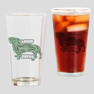 Wierner Energy Dachshund Drinking Glass