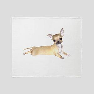 Tan Chihuahua Throw Blanket