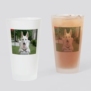 White German Shepard Drinking Glass