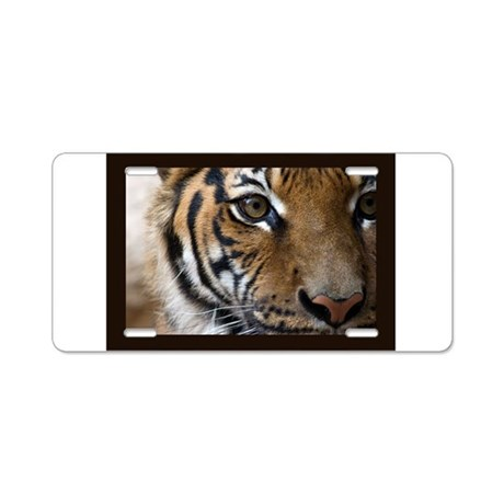 The Tiger's Eye Aluminum License Plate
