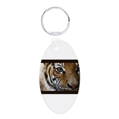 The Tiger's Eye Aluminum Oval Keychain