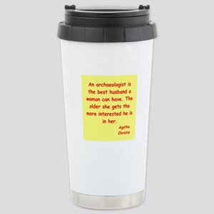 agatha Christie quotes Stainless Steel Travel Mug