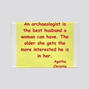 agatha Christie quotes Rectangle Magnet