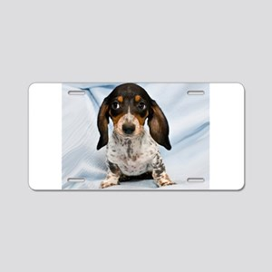 Speckled Puppy Aluminum License Plate