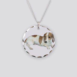 Brown Spots Necklace Circle Charm