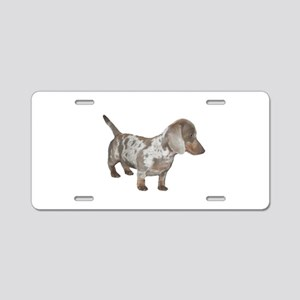 Speckled Dachshund Dog Aluminum License Plate
