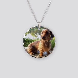 By The Lake Necklace Circle Charm