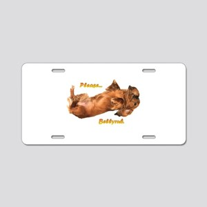 Bellyrub Doxie Aluminum License Plate