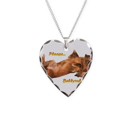 Bellyrub Doxie Necklace Heart Charm