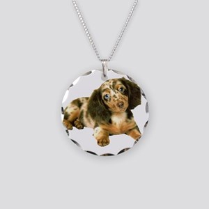 Shy_Low Puppy Necklace Circle Charm