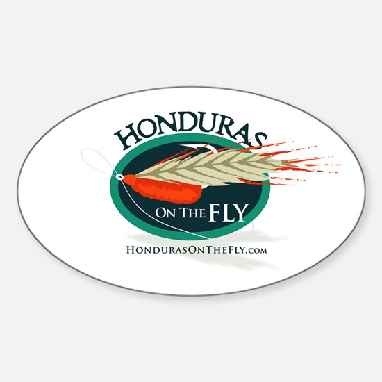 Honduras on the Fly Oval Decal