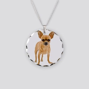 Chihuahua Stand Necklace Circle Charm